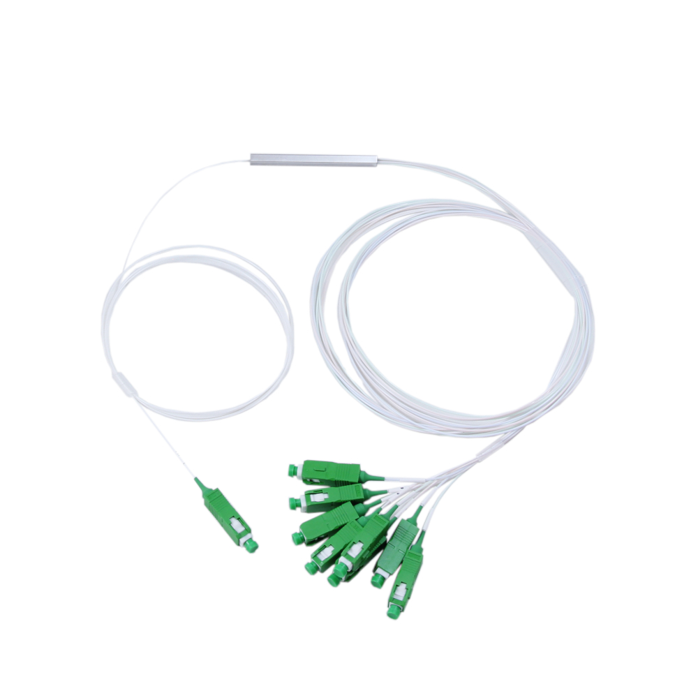Fibre splitter PLC 1x8 SC/APC 0,9mm, 1m fibers Mini-module | FiberOptics24.eu